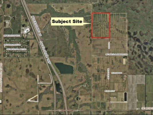 Proposed golf course site
