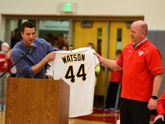 Pittsburgh Pirate Tony Watson, a DCG graduate, presents