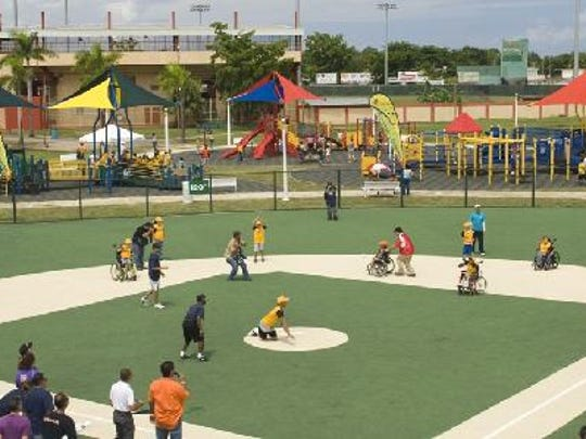 Rendering of new Miracle Field and barrier-free playground under construction in Webster.