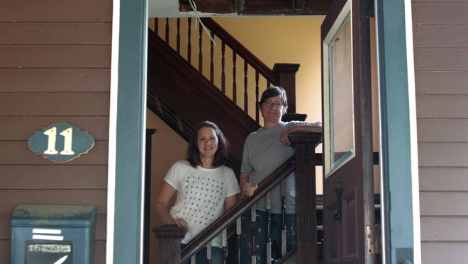 Angela Herrald, left, and Pam Renfro, are refurbishing the Newman-Dean House on Church Street in Fairport to become The Inn on Church.