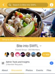 Bite into SWFL is a Facebook group from JLB and the