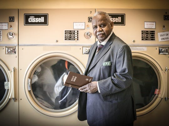The Rev. Melvin B. Girton Sr.'s Christ Missionary Baptist Church owns and operates Flowing Waters Wash & Dry laundromat.
