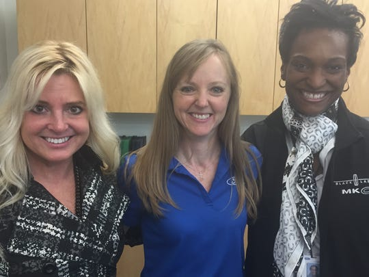 Courtenay Konet, chief engineer Ford; Alison L. Bazil, manager, engineering learning and development; and Ann Green-Ramsey, global quality manager, Lincoln.