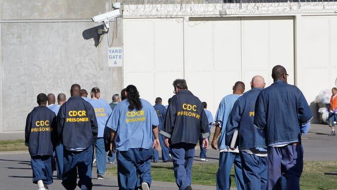 Prisoners in Folsom, Calif. in 2013.