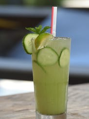 The Cucumber Cooler, one of the cocktails available