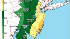 Coastal Ocean County is expected to receive the most