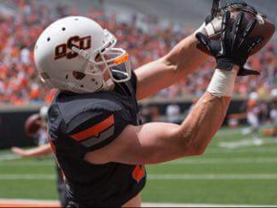 Oklahoma State redshirt freshman Logan Carter, from