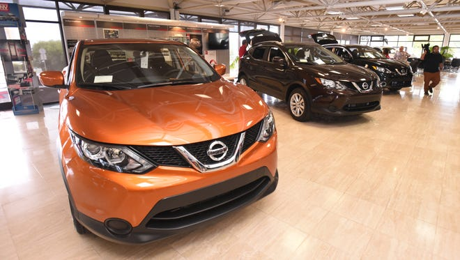 Nissan Guam held an unveiling to introduce its line of 2017 Nissan Rogue Sport vehicles at their showroom in Tamuning on Thursday, June 15, 2017. The dealership held the event to reveal the new vehicles which are slightly smaller than the regular Rogue model and come equipped with Bluetooth® hands-free phone system and streaming audio, RearView Monitor, Siri® Eyes Free, as well as other features. Additional options such as a push-button ignition, Divide-N-Hide Cargo System and Around View® Monitor with moving object detection, are also available on select models.