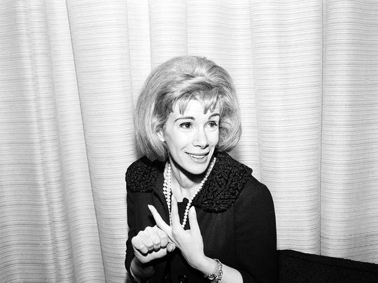 This April 12, 1965 file photo shows comedienne Joan Rivers in Los Angeles. Rivers, the raucous, acid-tongued comedian who crashed the male-dominated realm of late-night talk shows and turned Hollywood red carpets into danger zones for badly dressed celebrities,  died Thursday, Sept. 4, 2014. She was 81. Rivers was hospitalized Aug. 28, after going into cardiac arrest at a doctor's office. (AP Photo/Dan Grossi, File)