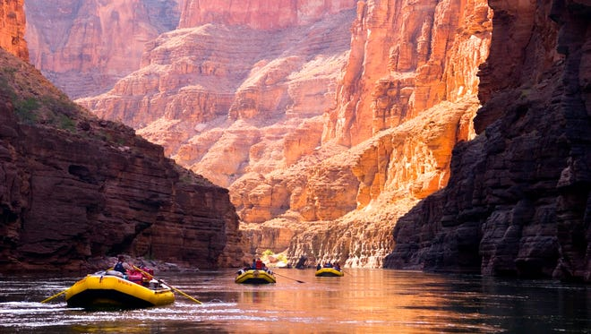 Rafting through the Grand Canyon in Arizona takes at least five or six days away from civilization.