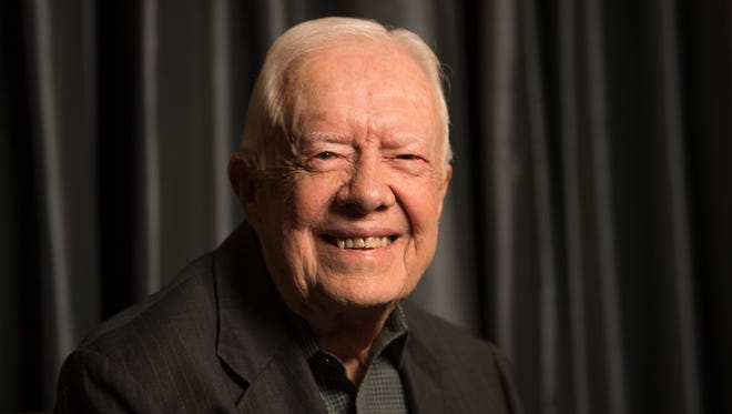 Former President Jimmy Carter, the 39th President of the United States from 1977 to 1981 and awarded the 2002 Nobel Peace Prize, photographed at the Peninsula Hotel in New York City, March 26, 2018.