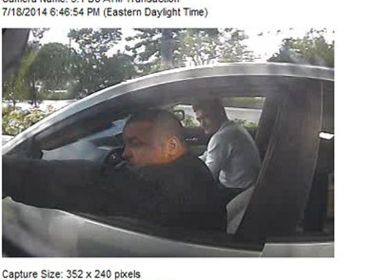 Luis Rivera, driving, and Sigfredo Garcia are captured on ATM security footage in Miami the day Dan Markel was killed.