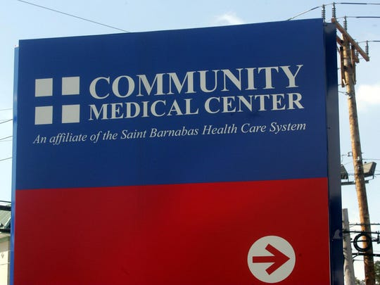 A sign at Community Medical Center, Toms River.