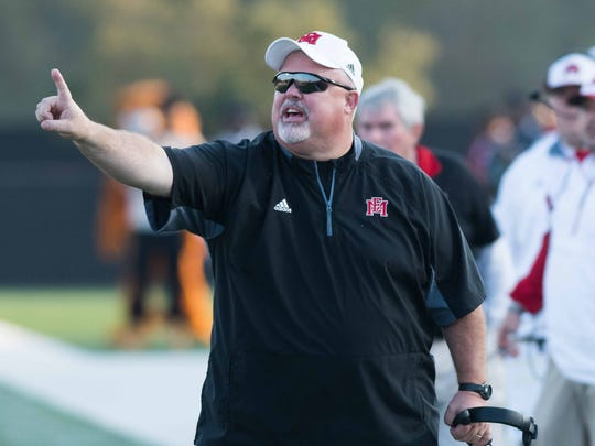 East Mississippi head coach Buddy Stephens calls a play against Northwest during game action at East Mississippi Community College in Scooba, Mississippi November 12th, 2016.(Bob Smith/For the Clarion Ledger)