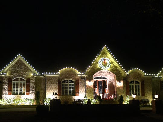 Holiday light at 303 Seward Road in Brentwood on Wednesday, Nov. 30, 2016.