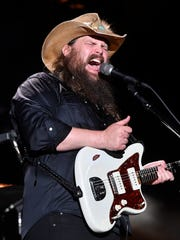 Chris Stapleton performs at the 2018 CMA Music Fest on Saturday.