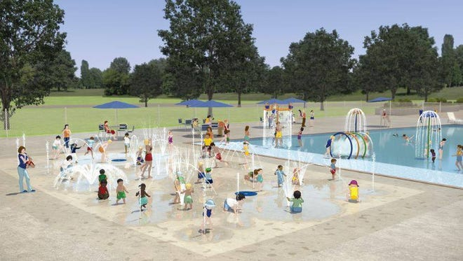 A splash pad is being constructed for the Tommy Garrott Aquatics Facility, which is expected to open this May.