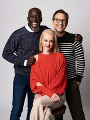 Actors Michael Kenneth Williams, Jena Malone and Christian Slater from the film 'The Public' pose for a portrait during the 2018 Toronto International Film Festival at Intercontinental Hotel on September 10, 2018 in Toronto, Canada.