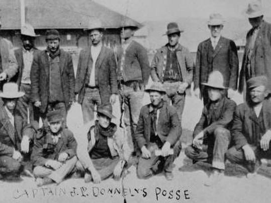 Capt. J.P. Donnelly's posse that pursued Shoshone Mike in 1911.