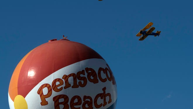 Scenes from the Red White and Blues air show at Pensacola Beach on Friday July 7, 2017.