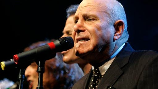 Tim Hauser, right, performs with the other members of the U.S. vocal group The Manhattan Transfer at the Avo Session in Basel, Switzerland. Hauser, the founder and singer of the Grammy-winning vocal troupe The Manhattan Transfer, died Thursday from cardiac arrest, band representative JoAnn Geffen said Friday. He was 72.