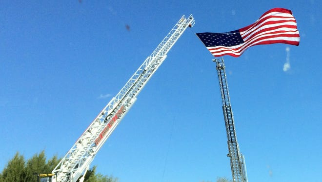 The Silver City Fire Department raised their flag for retired Battalion Chief Chuy Lopez who passed away.
