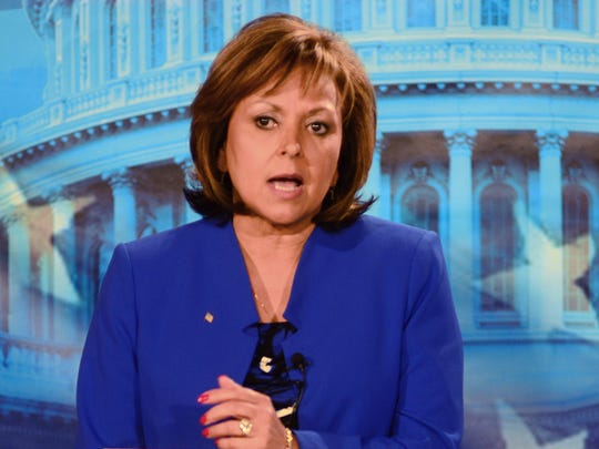 New Mexico Gov. Susana Martinez makes a point during