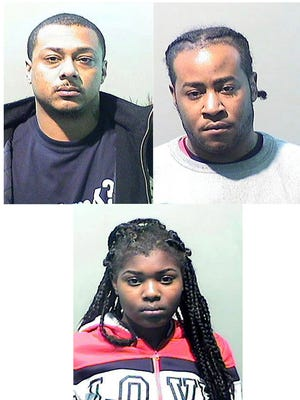 Clockwise from upper left, Eric Brown, Brian Ash and Grace Nyirahabimana from Detroit have been charged in connection with human trafficking of a minor.