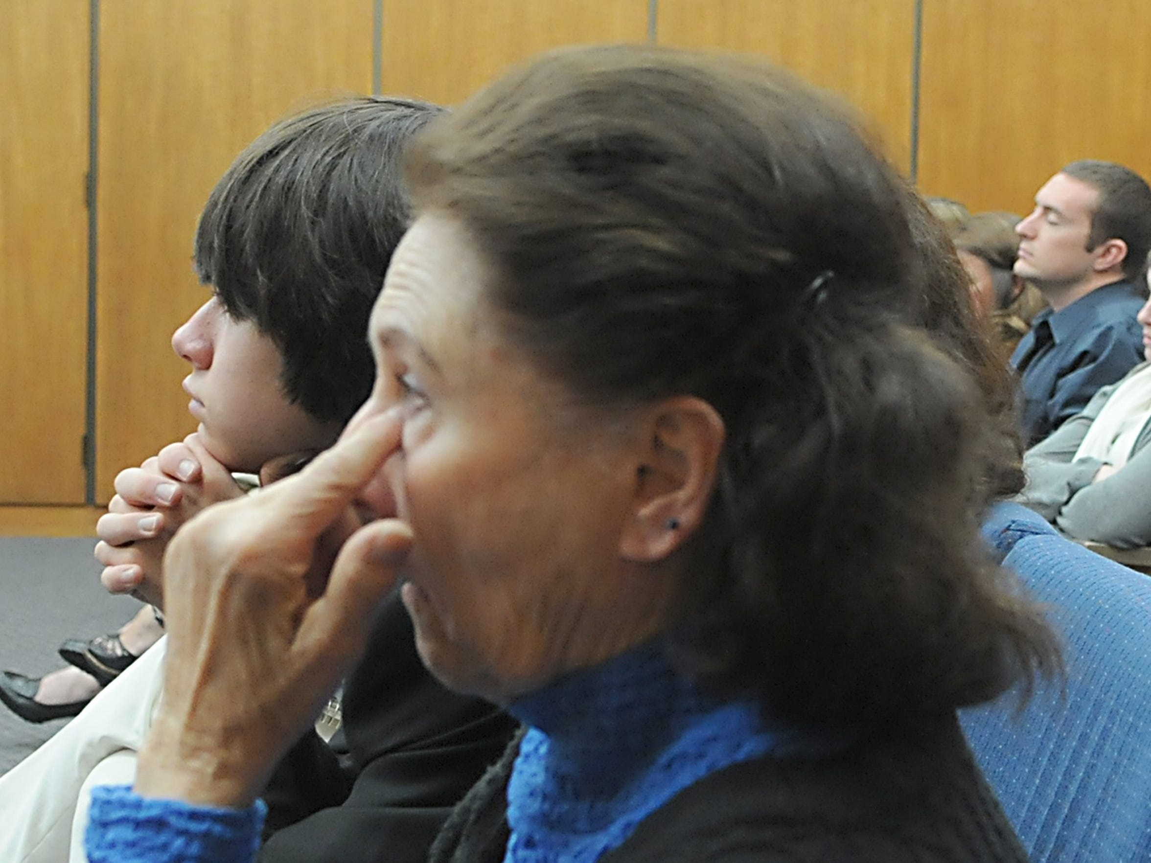 Far left, Brighton Denison sits next to his grandmother Barbara Zunino, Brianna Denison's grandmother during closing arguments Wednesday, May 26, 2010.