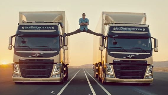 Swedish spot for Volvo Trucks featured action movie star Jean Claude van Damme.