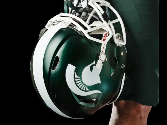 Right side of the helmet.