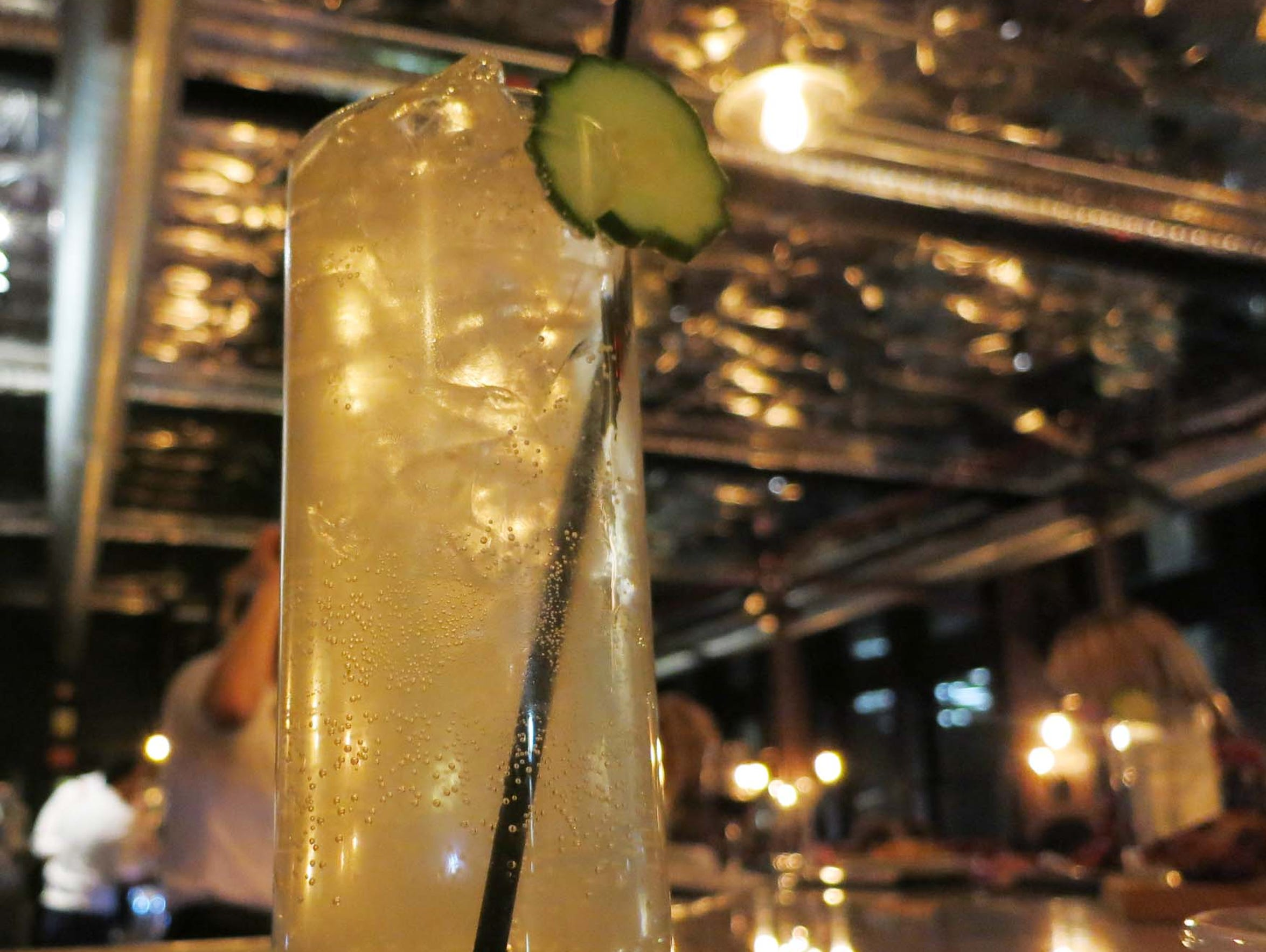 The Cucumber cocktail at Wright & Co. in Detroit is