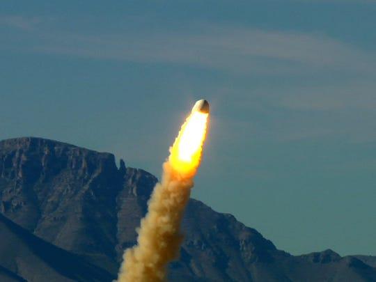 On Oct. 19, 2012 in Van Horn, Texas, a prototype Blue