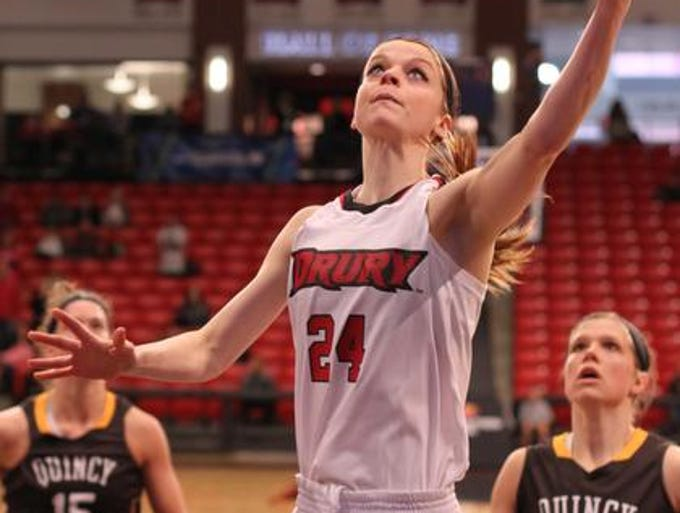 Drury against Quincy at the NCAA II Regional Tournament at the O'Reilly Event Center in Springfield on March 16, 2014.