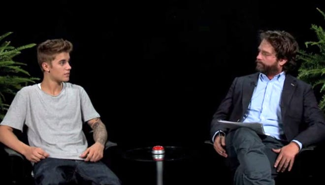 """Justin Bieber  appears on """"Between Two Ferns with Zach Galifianakis."""""""