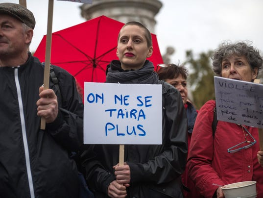 EPA FRANCE WOMEN PROTEST SEXUAL VIOLENCE POL CITIZENS INITIATIVE & RECALL FRA