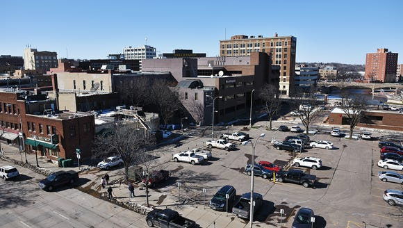 The parking lot along 10th Street behind PAve Thursday,