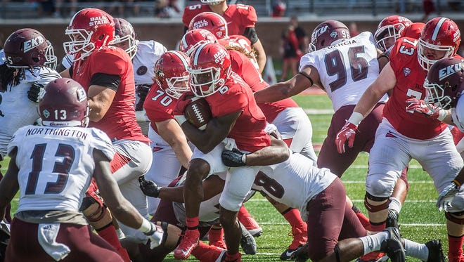 Ball State defeated Easter Kentucky 41-14 in their first home game of the season Saturday.