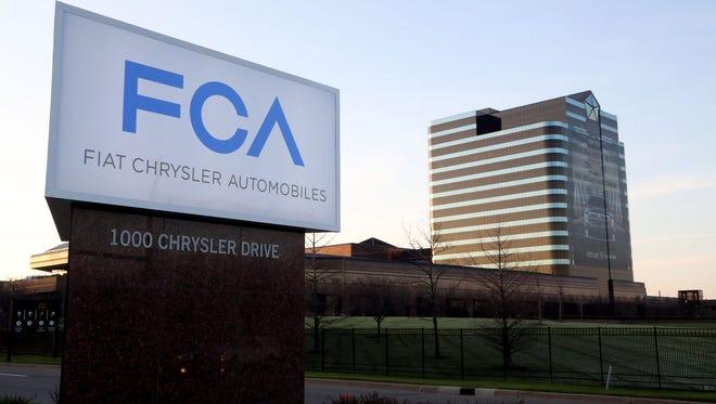 The Fiat Chrysler Automobiles headquarters in Auburn Hills.