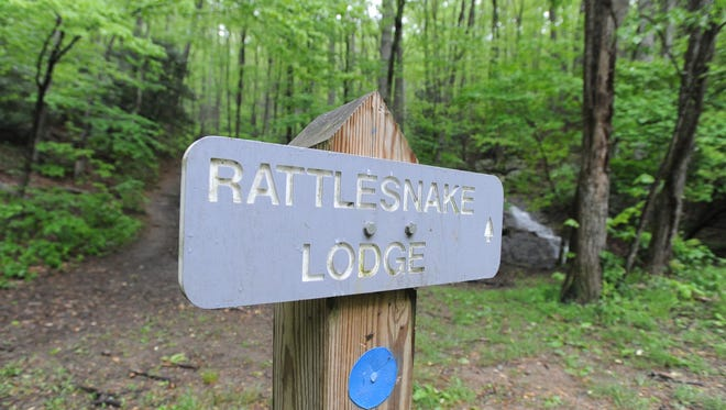 The Rattlesnake Lodge trail off of the Blue Ridge parkway north of Asheville.