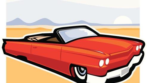 Vintage Cadillac Convertible Car