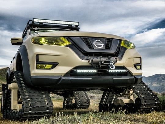 Nissan is showing its tracked Rogue Trail Warrior at