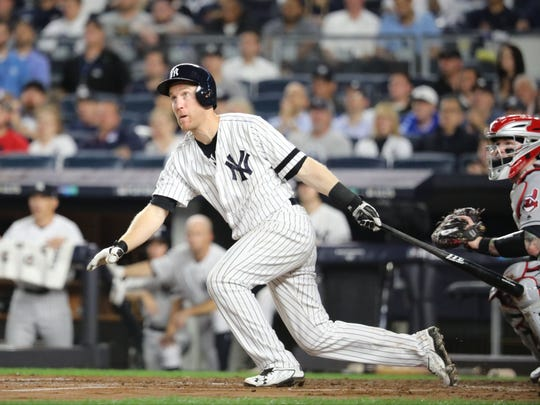 Todd Frazier connected in the second inning for an RBI, Monday, October 9, 2017.