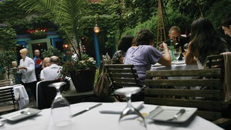 Outdoor dinning at Cafe Matisse in Rutherford.