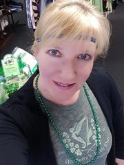 Joann Matthias, owner of Sunshine Gift & Consignment in Kenvil, at a St. Patrick's Day Habitat For Humanity Benefit.