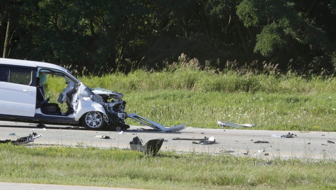 Sheboygan County Sheriff officials investigated a two-vehicle crash on State Highway 23 by County Road TT Friday July 22, 2016 in the Town of Sheboygan Falls.
