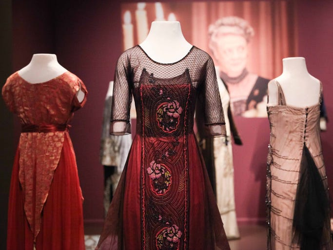 "Costumes of ""Downton Abbey,"" a major exhibition of costumes from the award- winning ""Downton Abbey"" television series, will open at Winterthur Museum, Garden and Library Saturday."