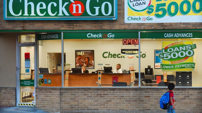 Check 'n Go a payday loan business at the corner of E. 10th St. and Blauvelt Ave. in Sioux Falls appears to be quiet on Wednesday, Nov. 16, 2016.