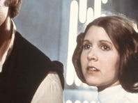 """Harrison Ford, left to right, Carrie Fisher and Mark Hamill starred in the original """"Star Wars"""" in 1977."""