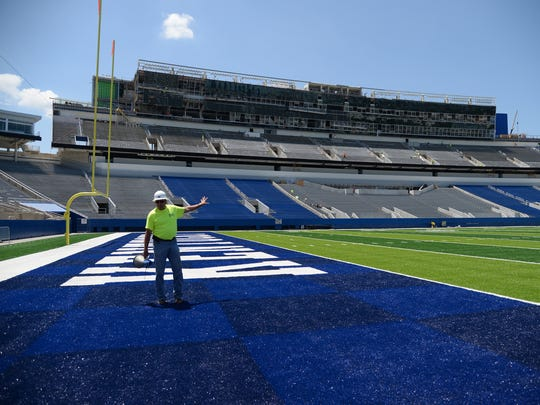 UK senior associate athletic director Russ Pear explains the renovation of Commonwealth Stadium.